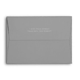 Bar Mitzvah Blue and Gray on Any Color Envelope