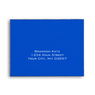 Bar Mitzvah Blue and Green on Any Color Envelope