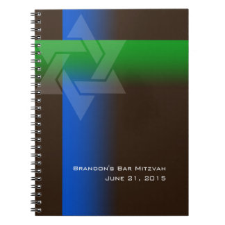 Bar Mitzvah Blue and Green on Any Color Notebook