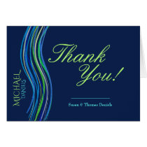Bar Mitzvah Blue and Green Prayer Shawl Thank You
