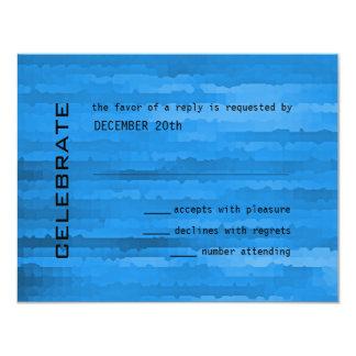Bar Mitzvah Blue Streaks Invitation RSVP Card
