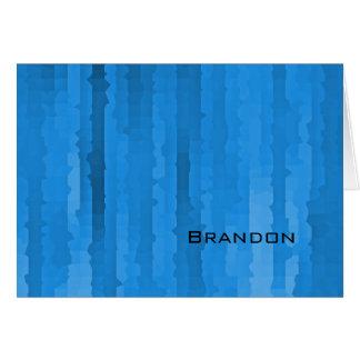 Bar Mitzvah Blue Streaks Note Card