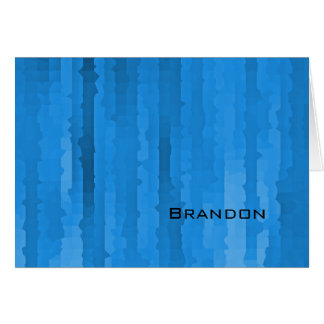Bar Mitzvah Blue Techno Streaks Card