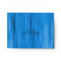 Bar Mitzvah Blue Techno Streaks Envelope