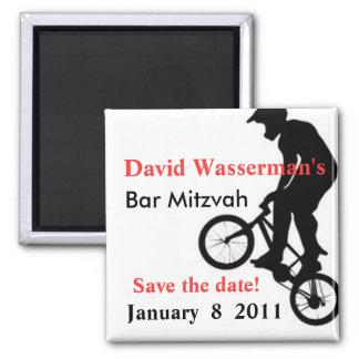 Bar Mitzvah BMX Save the Date Refrigerator Magnet