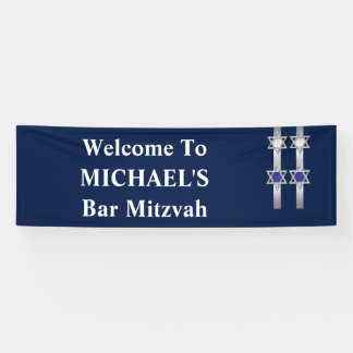Bar mitzvah boys welcome placard banner