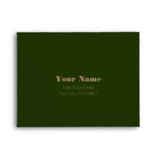 Bar Mitzvah Brown and Green Marbled Envelopes
