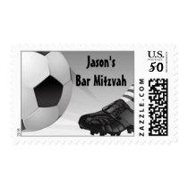 Bar Mitzvah Customized Postage Soccer