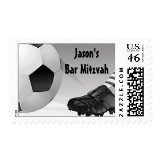 Bar Mitzvah Customized Postage Soccer