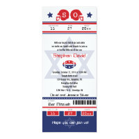 Bar Mitzvah Football Ticket Invitation