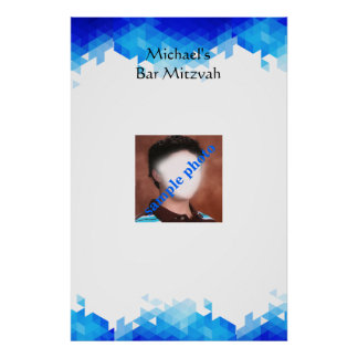 Bar Mitzvah, Geometric, Photo, Sign in Board