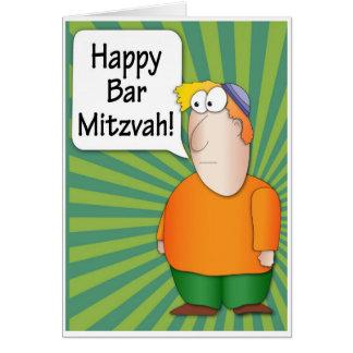 Bar Mitzvah greeting card - Jewish Boy character