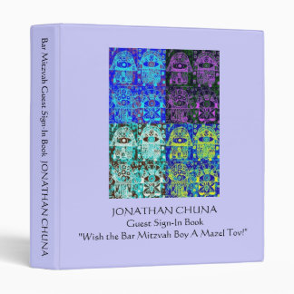Bar Mitzvah Guest Sign-In Book : Mazel Tov Wishes 3 Ring Binder