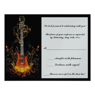 bar mitzvah guitar response card