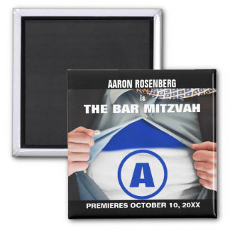Bar Mitzvah Hero Save the Date Magnet