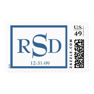 Bar Mitzvah Initials and Date Stamp
