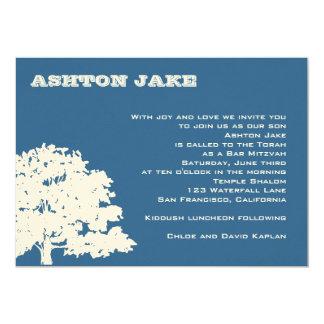 Bar Mitzvah Invitation Ashton Tree Hebrew