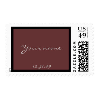 Bar Mitzvah Invitation Brown and black Postage Stamps