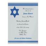 Bar Mitzvah Invitation - Silver Metallic Invite Personalized Invites