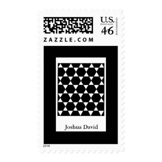 Bar Mitzvah Invitation Star of David Postage Stamps