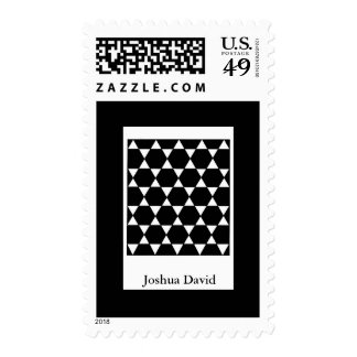 Bar Mitzvah Invitation Star of David Postage Stamps
