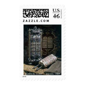 Bar Mitzvah Invitation - Torah Historical Postage Stamps