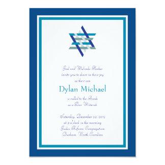 Bar Mitzvah Invitation | Woven Star