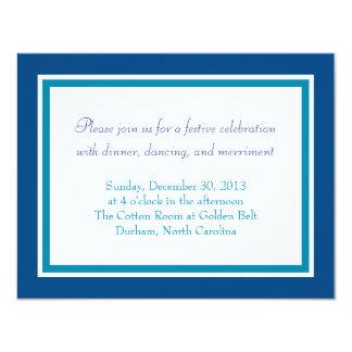 Bar Mitzvah Invitation | Woven Star Reception Card