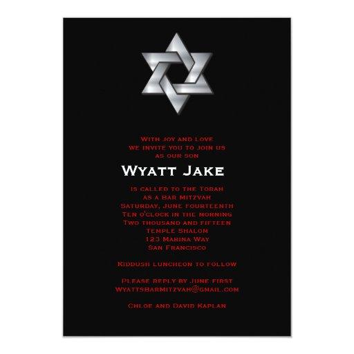 Unique Bar Mitzvah Invitations with perfect invitations sample