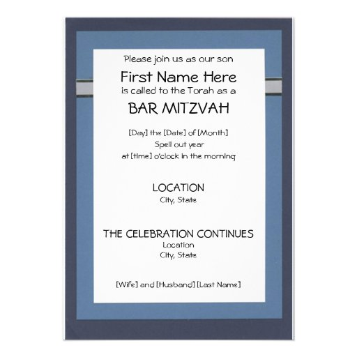 Wording For Bar Mitzvah Invitations for good invitation sample