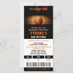 "Bar Mitzvah Invitations | Basketball Ticket<br><div class=""desc"">Mazel Tov! Celebrate your child's Bar Bat Mitzvah with this modern and fun invitation design. Easily personalise this basketball themed Bar Mitvah Invitation template with your child's event details.</div>"