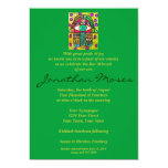 "Bar Mitzvah Invite - Garden Oasis Hamsa 5"" X 7"" Invitation Card"