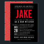"BAR MITZVAH modern bold geometric type black red Invitation<br><div class=""desc"">by kat massard >>> WWW.SIMPLYSWEETPAPERIE.COM <_0d_0a_-20_-20_-20_-20_-20_-20_-20_-20_-20_-20_-20_-0d_0a_contact20_me20_to20_help20_with20_balancing20_your20_type20_perfectly0d_0a_love20_the20_design2c_20_but20_would20_like20_to20_see20_some20_changes20_-20_another20_color20_scheme2c_20_product2c_20_add20_a20_photo20_or20_adapted20_for20_a20_different20_occasion20_-20_no20_worries20_simply20_contact20_me2c_20_kat40_simplysweetpaperie.com20_-20_i20_am20_happy20_to20_help21_0d_0a_-20_-20_-20_-20_-20_-20_-20_-20_-20_-20_-20_- -="""" contact="""" me="""" to="""" help="""" with="""" balancing="""" your="""" type="""" perfectly="""" love="""" the="""" _design2c_="""" but="""" would="""" like="""" see="""" some="""" changes="""" another="""" color="""" _scheme2c_="""" _product2c_="""" add="""" a="""" photo="""" or="""" adapted="""" for="""" different="""" occasion="""" no="""" worries="""" simply="""" _me2c_="""" _kat40_simplysweetpaperie.com="""" i="""" am="""" happy="""" _help21_=""""></_0d_0a_-20_-20_-20_-20_-20_-20_-20_-20_-20_-20_-20_-0d_0a_contact20_me20_to20_help20_with20_balancing20_your20_type20_perfectly0d_0a_love20_the20_design2c_20_but20_would20_like20_to20_see20_some20_changes20_-20_another20_color20_scheme2c_20_product2c_20_add20_a20_photo20_or20_adapted20_for20_a20_different20_occasion20_-20_no20_worries20_simply20_contact20_me2c_20_kat40_simplysweetpaperie.com20_-20_i20_am20_happy20_to20_help21_0d_0a_-20_-20_-20_-20_-20_-20_-20_-20_-20_-20_-20_-></div>"