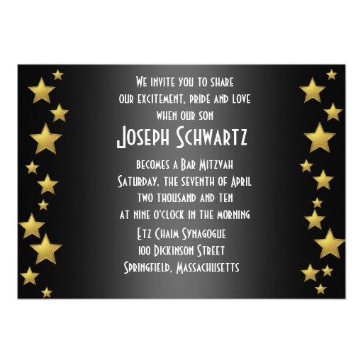 Bar Mitzvah Movie Star Invitation (back side)