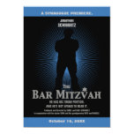 Bar Mitzvah Movie Star Invitation in Blue, Black