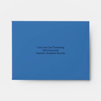 Bar Mitzvah Movie Star Reply Envelope, Blue Black Envelopes