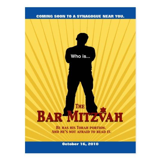 Bar Mitzvah Movie Star Save the Date Postcard