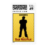 Bar Mitzvah Movie Star Stamp Medium