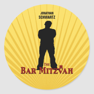 Bar Mitzvah Movie Star Sticker