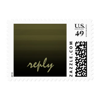 Bar Mitzvah Olive and Black Horizontal Stripes Postage