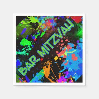 Bar Mitzvah Paint Splatter, Paint Ball Paper Napkin