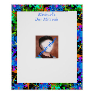 Bar Mitzvah Photo Sign in Board