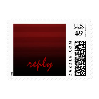 Bar Mitzvah Red and Black Horizontal Stripes Postage