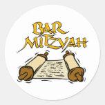 Bar Mitzvah Round Stickers