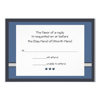 Bar Mitzvah RSVP Cards Personalized Announcements