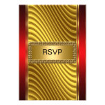 Bar Mitzvah rsvp Gold and Red Announcement