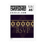 Bar Mitzvah RSVP postal stamps