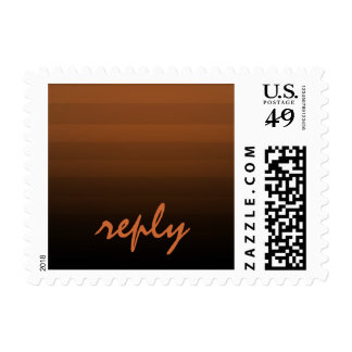 Bar Mitzvah Rust and Black Horizontal Stripes Postage