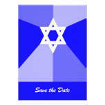 Bar Mitzvah Save the Date Invitation Card  -- Blue