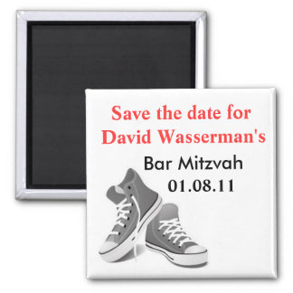Bar Mitzvah Sneakers Save the Date Magnet